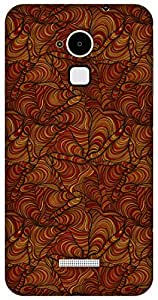 The Racoon Lean hand doodle flow red hard plastic printed back case / cover for Coolpad Note 3