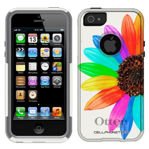 Great Price Otterbox Commuter Series Colorful Sun Flower Hybrid Case for iPhone 5 & 5s