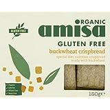 Amisa Organic Buckwheat Crispbread 150 g (Pack of 6)