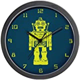 CafePress Red Robot Wall Clock - Standard Multi-color [Kitchen]