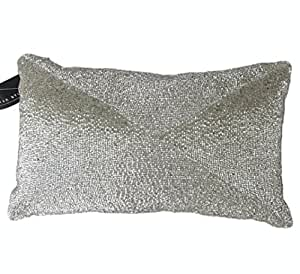 Max Studio Home Decorative Pillows : Amazon.com - Max Studio Beaded Decorative Toss Pillow Cover 100% Cotton Bugle Beads Accent Throw ...