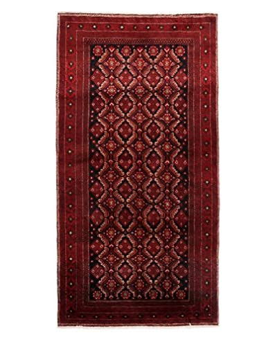 Authentic Persian Baluch Rug, Red, 3' 4 x 6' 6