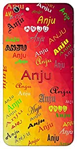 Anju (One Who Lives In The Heart) Name & Sign Printed All over customize & Personalized!! Protective back cover for your Smart Phone : Moto G-4