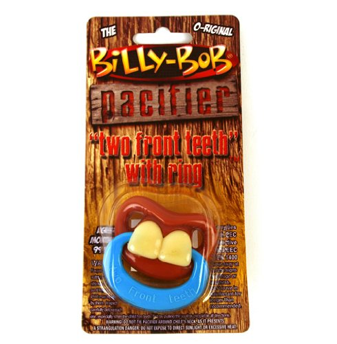 Billy Bob Teeth Two Front Teeth With Ring Pacifier front-993591