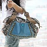 Women Ladies Satchel Canvas Tote Messenger Leather Purse Shoulder Bag Handbag