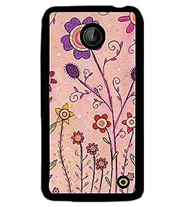 Printvisa Pink And Puple Flowers Back Case Cover for Nokia Lumia 630::Nokia Lumia 630 3G