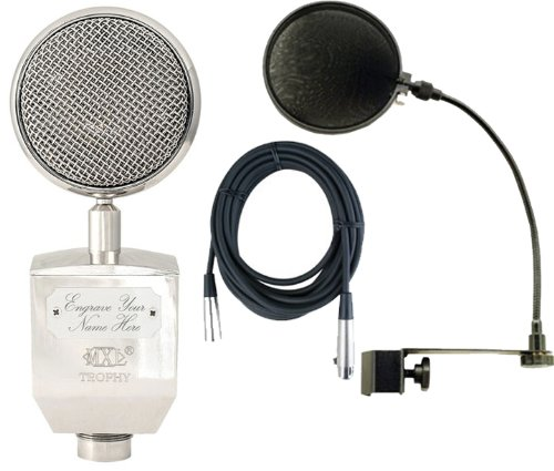 Mxl Trophy Recording Studio Mic Condenser Microphone W/ Pop Filter And Cable