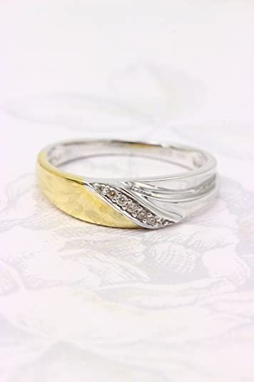 Diamond Engagement Ring with A ASS 333 Gold 7 Gr, 0, Bicolour 04ct (Brilliant) 17 (54)