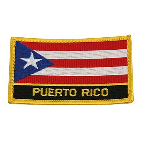 Rasta Flag Patchs-Puerto Rico