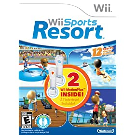 519s8OozRlL. AA280  Wii Sports Resort WIth Dual Pack MotionPlus Bundle   $60 Shipped
