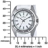 AK Anne Klein Women's 109179WTWT Silver-Tone Swarovski Crystal Accented White Plastic Watch