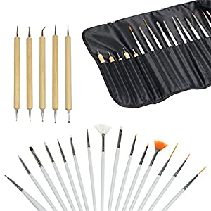 Sunydeal 20pcs Nail Art Design Painting Dotting Pen Brushes