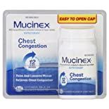 Mucinex Expectorant, Chest Congestion, 600 mg, Extended-Release Bi-Layer Tablets, 60 ct.