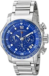 Swiss Legend Men's 'Blue Geneve' Swiss Quartz Stainless Steel Casual Watch (Model: 16187SM-33)