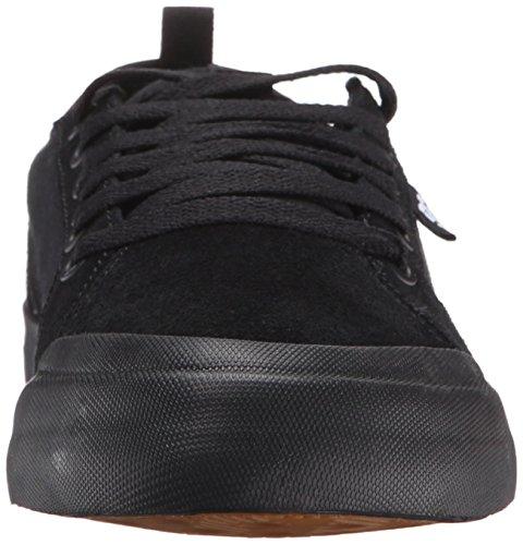 DC Men's Evan Smith Skate Shoe, Black/Black/Gum, 7 M US