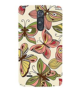 Butterflies Pattern 3D Hard Polycarbonate Designer Back Case Cover for LG G3 Stylus :: LG G3 Stylus D690N :: LG G3 Stylus D690