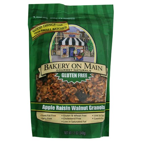 Buy Bakery on Main Gluten Free Granola, Apple Raisin Walnut, 12 Ounces (Pack of 6) (Bakery on Main, Health & Personal Care, Products, Food & Snacks, Breakfast Foods, Cereals)