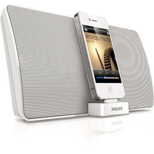 philips iphone 4 4s ipod speaker dock docking station. Black Bedroom Furniture Sets. Home Design Ideas