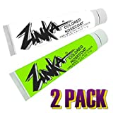Zinka Colored Sunblock Zinc Nosecoat 2 Pack Bundle - White Green
