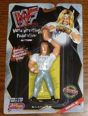 Al Snow Head Signed WWF WWE 1999 Bend-Ems Action Figure COA Autographed - PSA/DNA Certified - Autographed Wrestling Photos