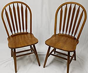 Amazon Com Ehemco Solid Wood Windsor Arrow Back Chair