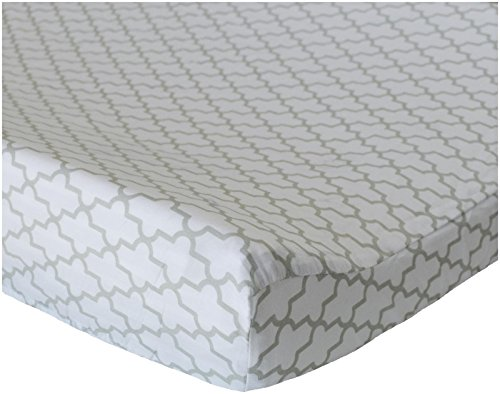 Oliver B Trellis Changing Pad Cover - Dove Grey - 1