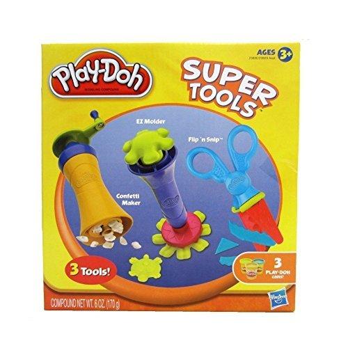 Play-Doh Super Tools - Confetti Maker, EZ Molder, Flip 'n Snip
