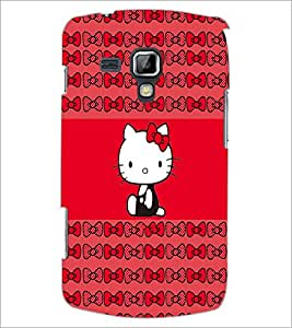 PrintDhaba Kitty D-4544 Back Case Cover for SAMSUNG GALAXY S DUOS S7562 (Multi-Coloured)
