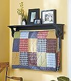 Hanging Wall Shelf-Rack & Quilt Hanger Bedroom Decor by TDP