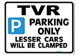 TVR Parking Sign - Gift for tuscan tasmin griffith car models - Size Large 205 x 270mm