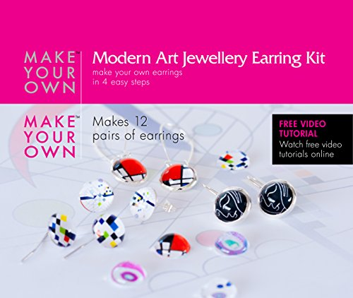 [Make Your Own Design Earring Jewelry Making Craft Kit, Modern Art] (Vintage Costume Jewelry Images)