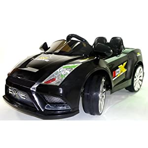 Lamborghini Style 12v Two Speed Electric Kids Ride on Car in Black with a Remote Control.