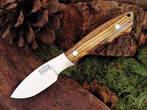 Bark River Mini Canadian Fixed Blade Knife,2.75In,A-2 Tool Steel Blade,Bocote Wood 133Wb Amb