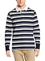 Timberland Polo Tfo Ls Stripe Rugby (Azul Noche / Blanco)
