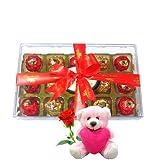 Chocholik Luxury Chocolates - Stunning Chocolates Box With Teddy And Rose