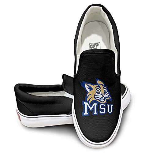 MGTER66 Montana State University Street Dance Canvas Shoes Slip On Unisex Style Color Black Size 36 (State Street Shoes For Men compare prices)