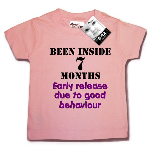 Dirty Fingers, Been Inside for 7 months..., Premature Baby T-shirt 0-6 months, Pink
