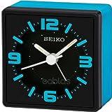 Seiko QHE091L Analogue Bedside Alarm Clock - Blue