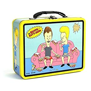 Beavis and Butthead Blue Sofa Snack Metal Carryall Lunchbox