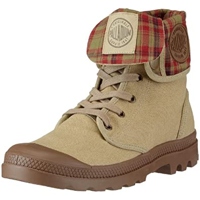 Palladium Men's Baggy Canvas Boot,Stone Dark Khaki,8 M US