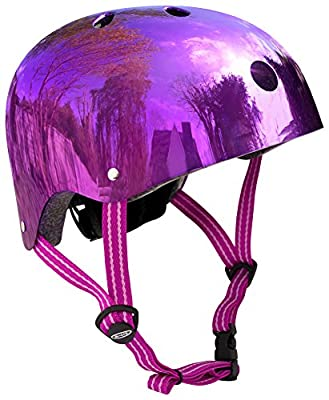 Micro Safety Helmet Reflective Purple Small for Boys and Girls Cycling Scooter Bike from Micro Scoters