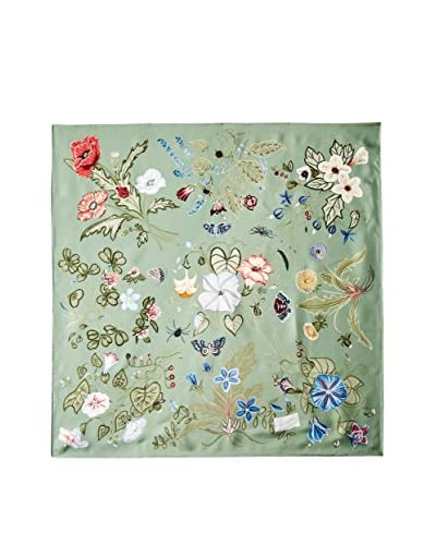 Gucci Women's Patterned Silk Scarf, Green/Multi As You See