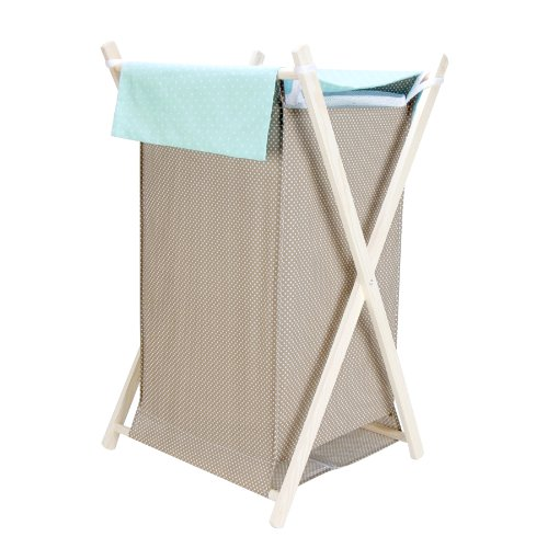 Trend Lab Cocoa Mint Hamper Set, Taupe