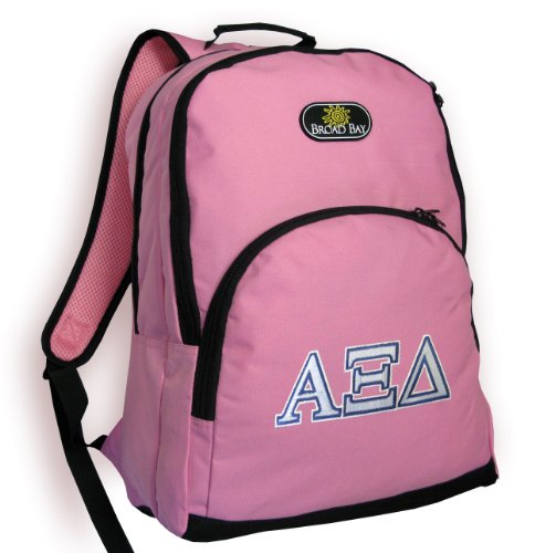 Alpha Xi Backpack Pink Alpha Xi Delta Sorority Travel School Bags
