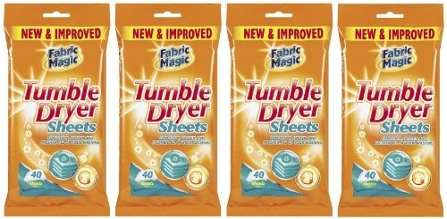 151 4 X 40 Tumble Dryer Sheets Conditions Softens & Freshens