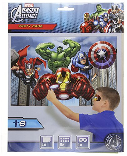 Avengers Party Game, Pin The Arc Reactor to The Iron Man Suit, Multicolored