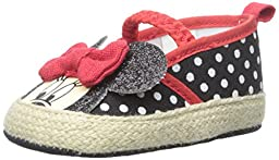 ABG Baby Minnie Polka Dot Espadrille (Infant), Black/Red, 3-6 Months M US Infant