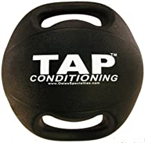 TAP Double Handle Medicine Ball, 8-Pound