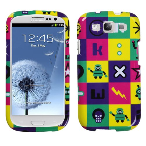 Hard Plastic Snap On Cover Fits Samsung I747 L710 T999 I535 R530 I9300 Galaxy S Iii Robot Lightning At&T (Please Carefully Check Your Device Model To Order The Correct Version.) front-124631