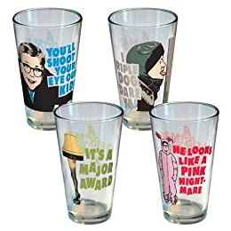 Product Image A Christmas Story Glass Set of 4 - Assorted (16oz)